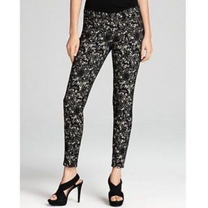 RARE! 7FAM Lace Printed Floral Skinny Jeans